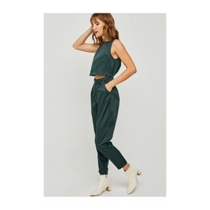 Hayden Green Sleeveless Trousers Jumpsuit, Small